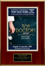Castle Connolly's 2016 Top Doctors Metro Area Jacksonville Award