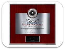Awarded American Registry: America's Most Honored Professionals Top 1% 2016 Award: Dr. Terk